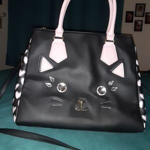 Betsy johnson kitty tote NWOT